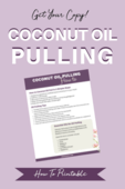 Coconut oil pulling optin image