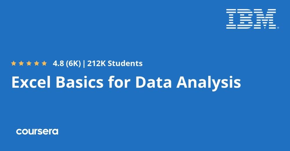 medium resolution of Excel Basics for Data Analysis   Coursera