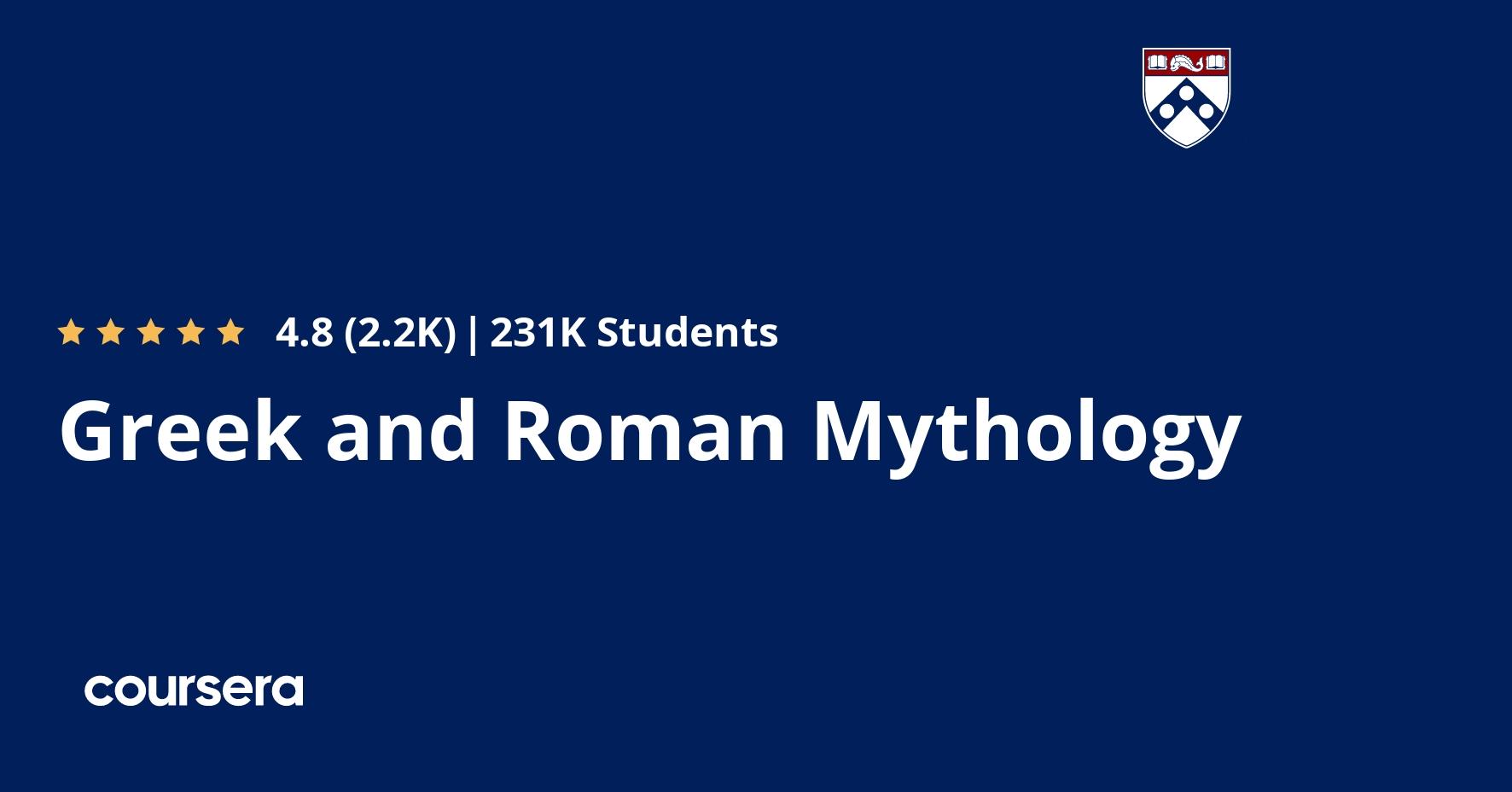 hight resolution of Greek and Roman Mythology   Coursera