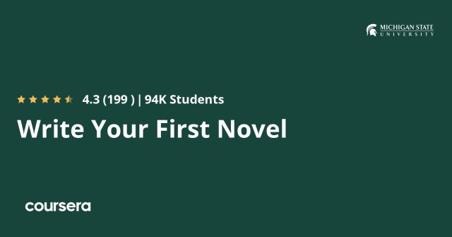 Write Your First Novel  Coursera