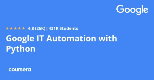 small resolution of Google IT Automation with Python Professional Certificate   Coursera