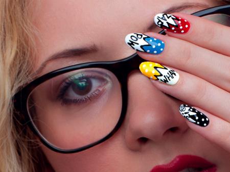 superhero nail art - craftfoxes