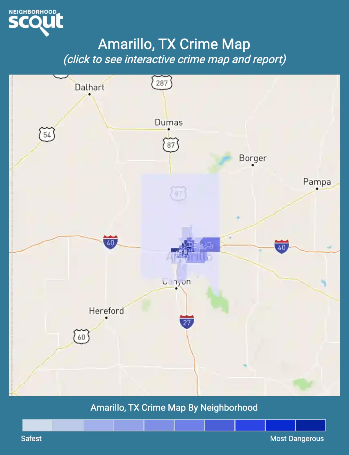 Amarillo Zip Code Map : amarillo, Amarillo, Crime, Rates, Statistics, NeighborhoodScout