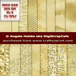 Gold Embellished Digital Background Papers Sparkle Glitter JPEG Scrapbook Journal Crafts