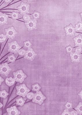 Floral Border Lilac A4 Backing Paper CUP238289 10