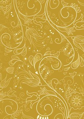 Gold Floral Lace Lights A4 Backing Paper CUP42309210