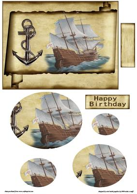 The Galleon CUP2060101209 Craftsuprint