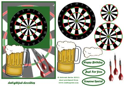 Darts And A Pint CUP223542 613 Craftsuprint