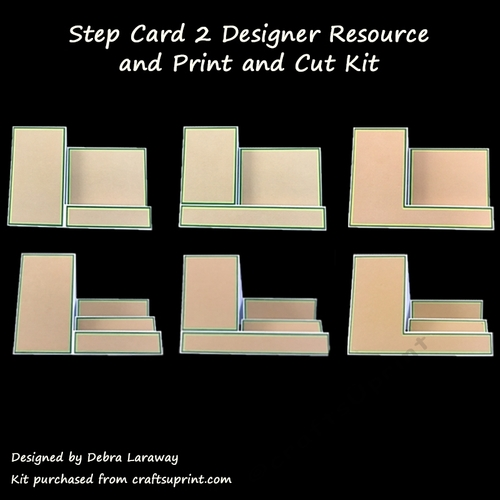 Side Step Card 2 Commercial Use Template And Print And Cut