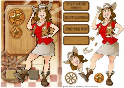 Line Dancer Lady Red CUP362758 437 Craftsuprint