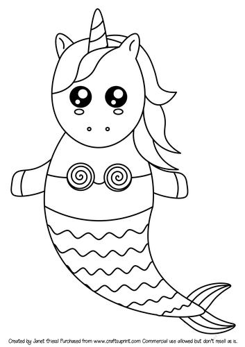 Coloring Sheets Mermaid