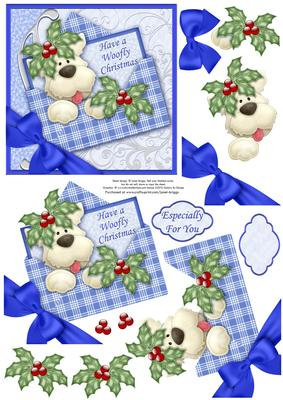 Christmas Westie Dog In Envelope Decoupage CUP27329668
