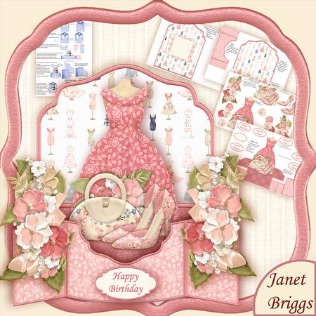 Fashion Shoes & Bag 3D Pop Up Card Kit & Decoupage