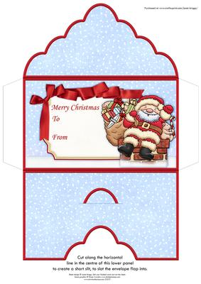 Santa Delivery Christmas Money Wallet Gift Voucher