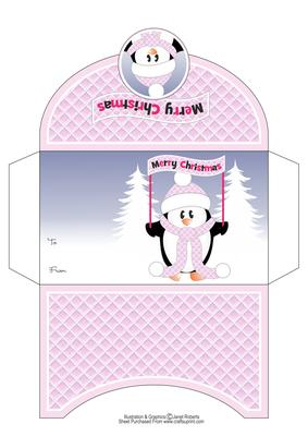 Merry Christmas Penguin Money Wallet CUP5816252053