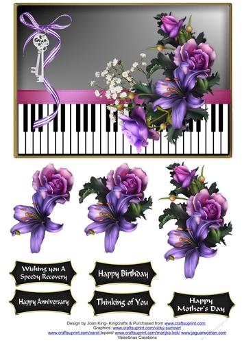 soft gothic flowers