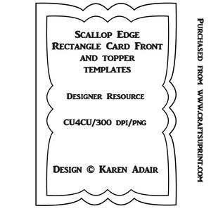 Scallop Edge Stepper Card Template CUP321940 168