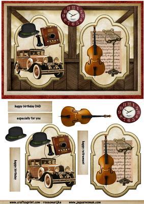 Male Card Nostalgia CUP541637 936 Craftsuprint