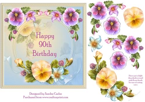 Happy 90th Birthday Cake Topper