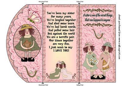 Sister Birthday Tri Fold Card CUP266495 539 Craftsuprint