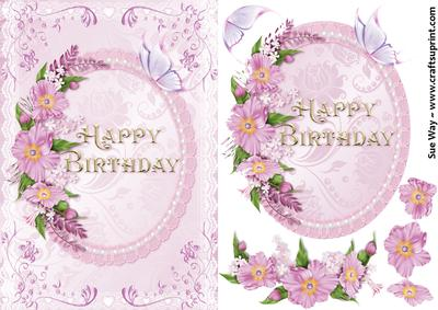 Happy Birthday Flowers And Butterfly CUP400987 38