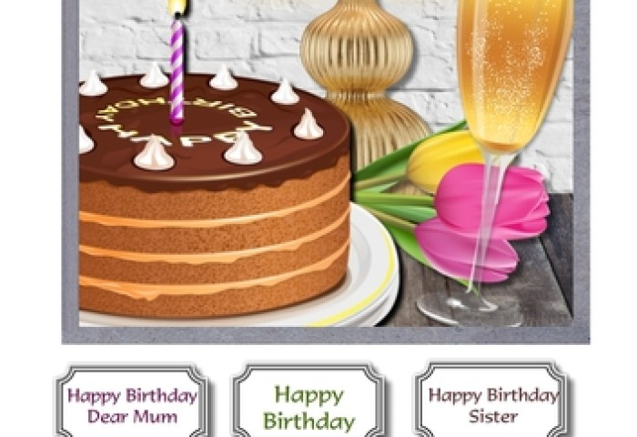 Birthday Cake And Champagne Cup86825643516 Craftsuprint