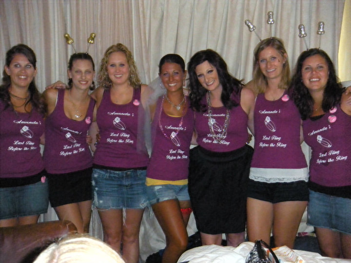 Custom T-Shirts For Bridesmaid With The Bride