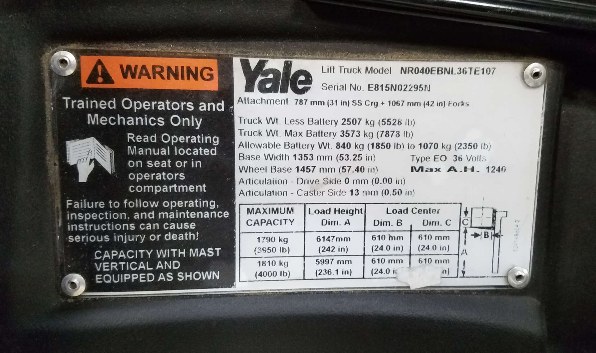 hight resolution of  array used 2015 yale nr040eb in menomonee falls wi rh yesequipment com