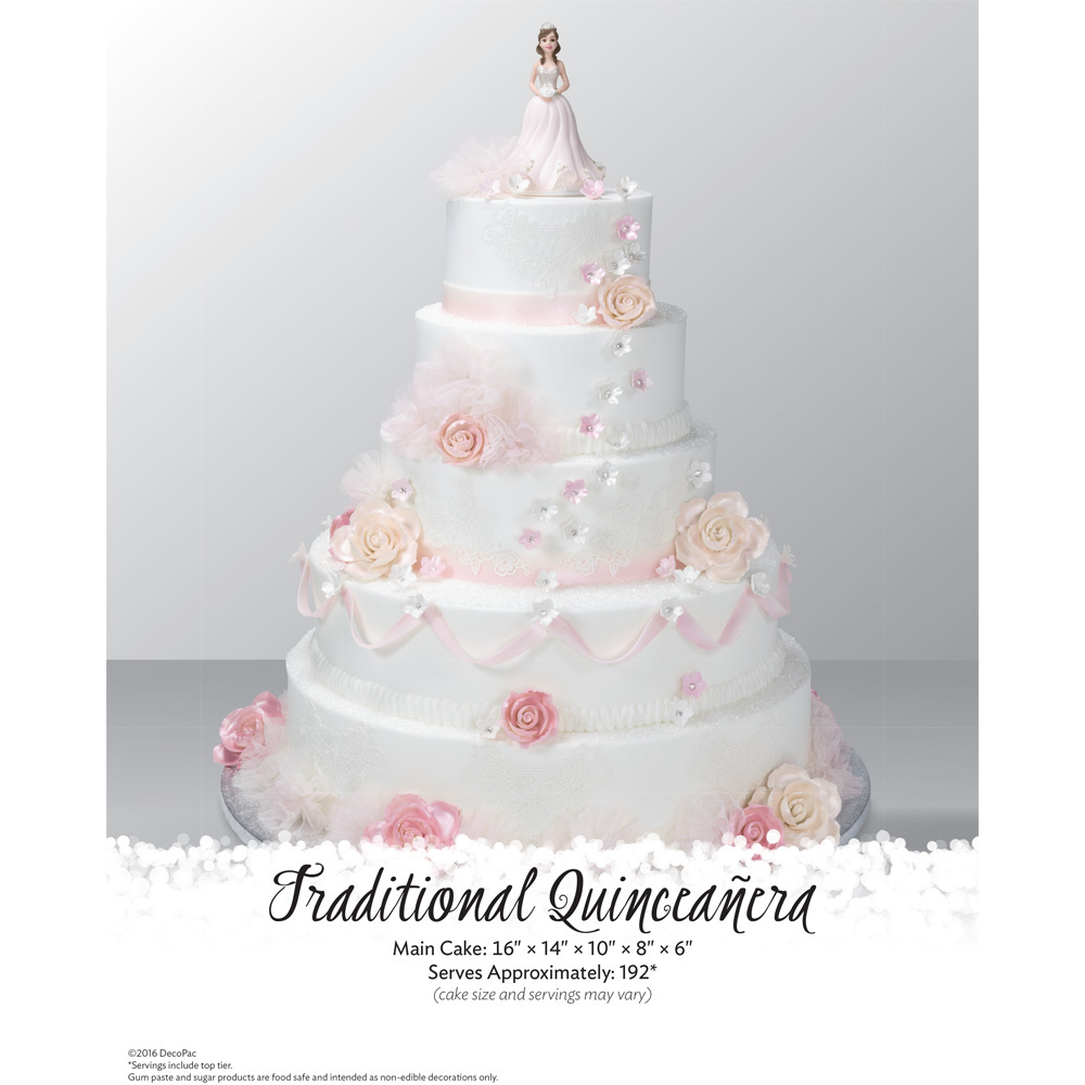 Quinceanera Traditional Stacked Cake The Magic Of Cakes Page Decopac