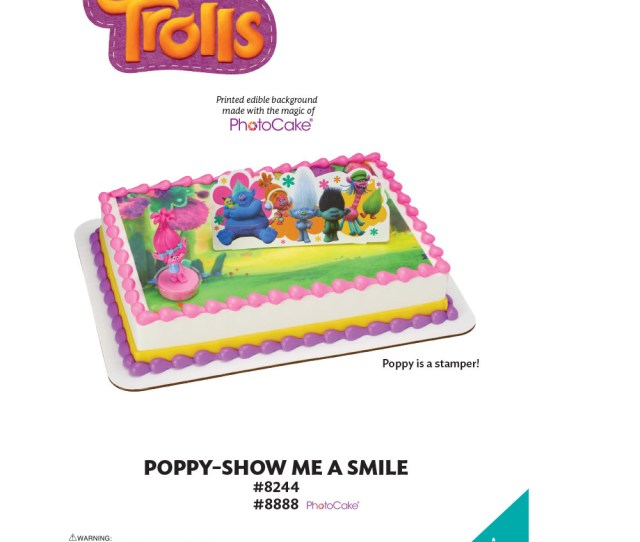 Trolls Poppy Show Me A Smile Photocake Background The Magic Of Cakes Page