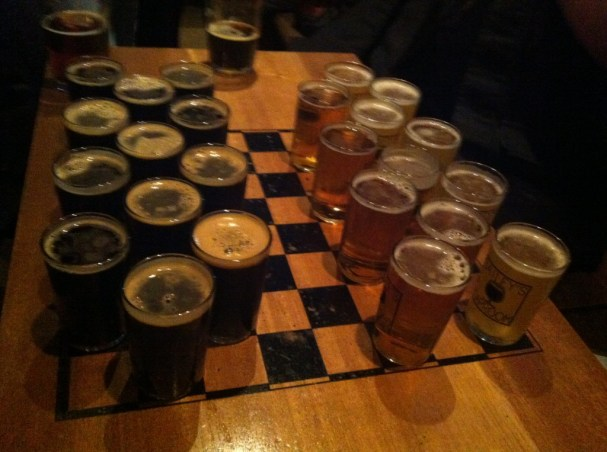 Beer Checkers!
