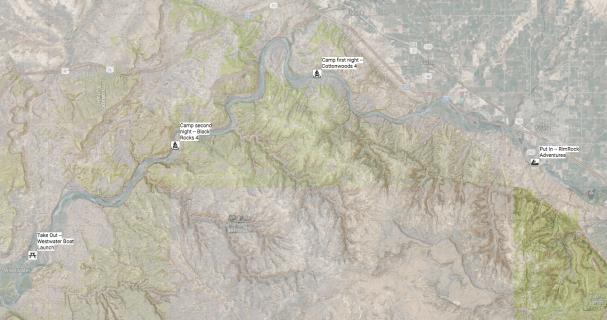 Colorado River Canoe Trip