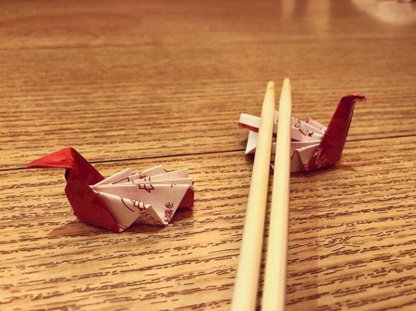 Pretty proud of our chopstick wrapper hashioki.