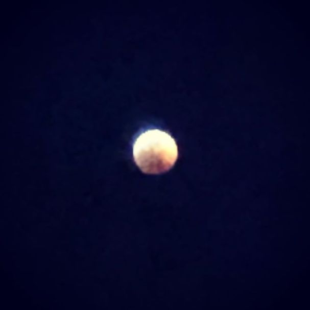 I promise, that's the moon. #lunareclipse
