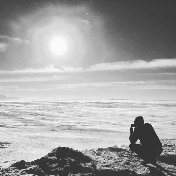 Taking photos at the edge of the world. #iceland