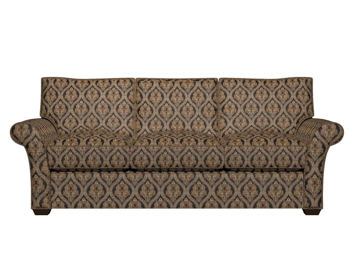 brocade sofa fabric loveseat recliner a0016c midnight gold ivory traditional upholstery