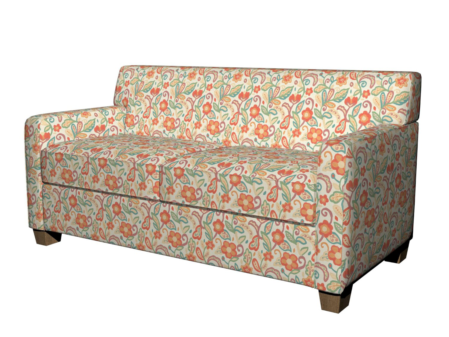 green floral sofa best transitional sofas a0023a teal orange beige contemporary