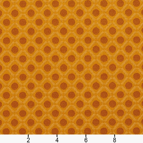 E263 Gold Brown Polka Dot Diamond Contract Upholstery Fabric Yard