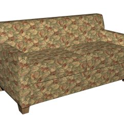 Green Floral Sofa Modulo 1 Lugar F935 Burgundy And Leaves Tapestry Upholstery