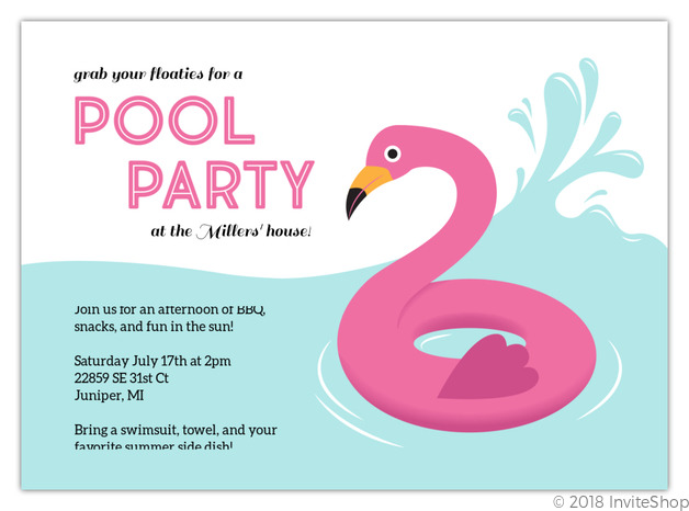 inflatable flamingo pool party