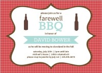 Checkered Backyard BBQ Farewell Party Invite   Going Away ...