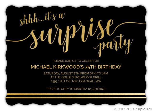 it s a surprise 75th birthday invitation