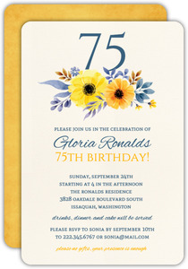 75th birthday invitations custom