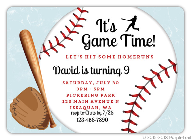game time baseball birthday