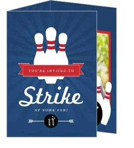 custom bowling party invites