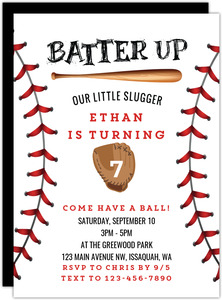 baseball party invitations baseball