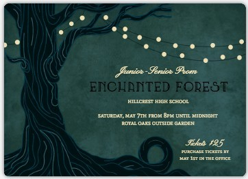 Enchanted Forest Prom Invitation Prom Invitations