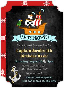 pirate party invitations purpletrail