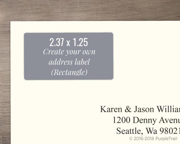 rectangle address label design