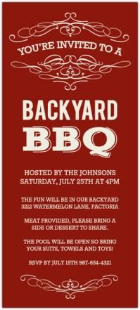Cream and Red Vintage Backyard BBQ Invitation   Bbq ...